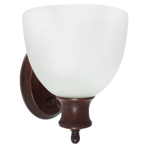 Efficient lighting interior wall sconce lighting fixture with built in switch energy star qualified amazon com