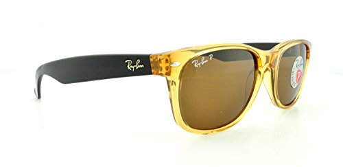 55mm Crystal ban Wayfarer New Rb2132 Honey Ray Brown Polarized Sunglasses n7IqRI
