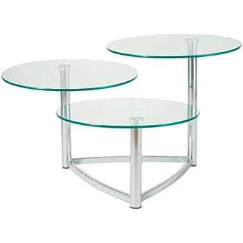 Amazon Com Adesso Cascade 3 Tier Swivel Table Steel