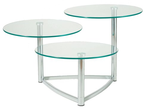 Tier 3 Cascade (Adesso Cascade 3-Tier Swivel Table, Steel)