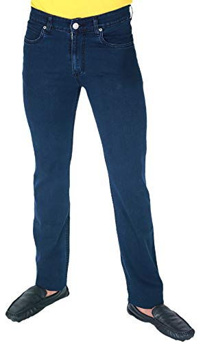 Dad Stretchable Denim Fabric Solid Regular Fit Full Length Mid Rise Jeans for Men