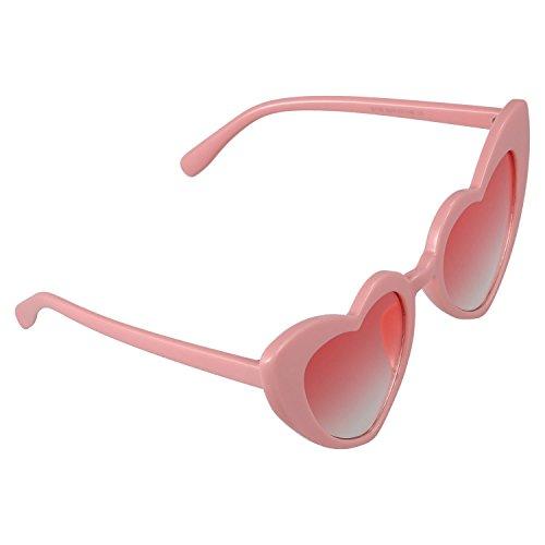 SODIAL forma para de sol S17070 Gafas de para rosado de moda en Gafas corazones de de mujer mujer corazon sol Blanco pequenos Gafas Fgw4Fqrz