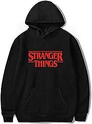 goowrom Unisex 3D Printed Hoodie Stranger Things Pullover Street Sweatshirts Jumper for Boys and Girls (Black)