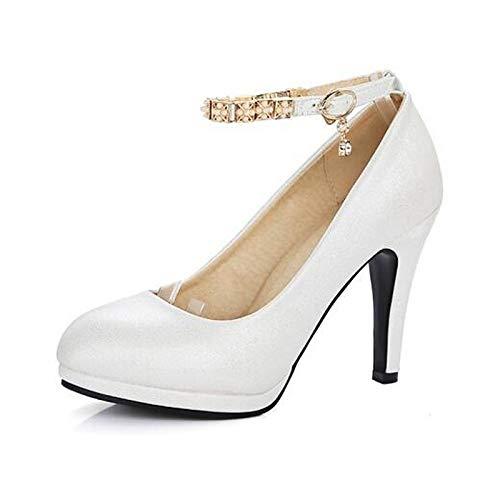 Negro Comfort Zapatos Black Stiletto Blanco de PU ZHZNVX Poliuretano Heel Mujer Heels Rojo Spring R1Hpxqn