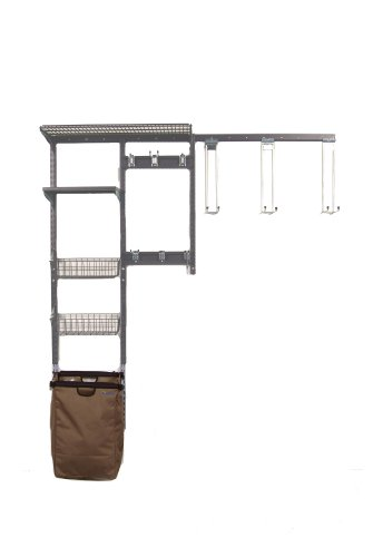 Triton Products 1660 Storability Shed Wall Mount Storage System 66-Inch L by 63-Inch H with Heavy Duty Hanging Hooks, Shop/Rag Bag, Wire Shelf, 2 Wire Baskets, Steel Shelf and Hardware by Storability