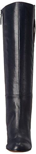 High Navy Oran Nine Leather Women's Knee West Boot BwX4qwZ