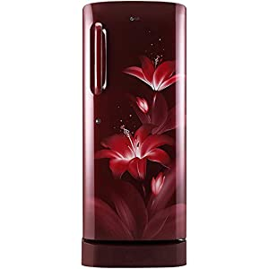 LG 235 L 4 Star Inverter Direct Cool Single Door Refrigerator (GL-D241ARGY, Ruby Glow, Base Stand with Drawer)