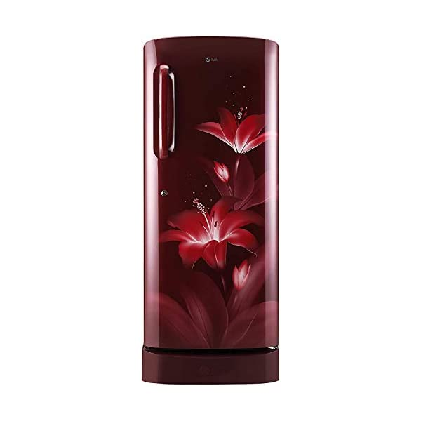 LG 235 L 4 Star Inverter Direct Cool Single Door Refrigerator (GL-D241ARGY, Ruby Glow, Base Stand with Drawer) 2021 July Important note : This product is 5-star rated as per 2019 BEE rating and 4-star rated as per 2020 BEE rating Direct-cool refrigerator: Economical and Cooling without fluctuation Capacity 235 litres: Suitable for families with 2 to 3 members and bachelors