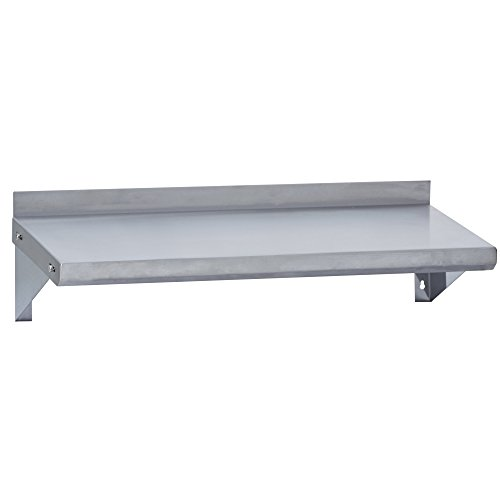 - Fenix Sol Commercial Kitchen Stainless Steel Wall Mounted Shelf, 12