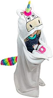Lazy One Animal Blanket Hoodie for Kids, Hooded Blanket, Wearable Blanket