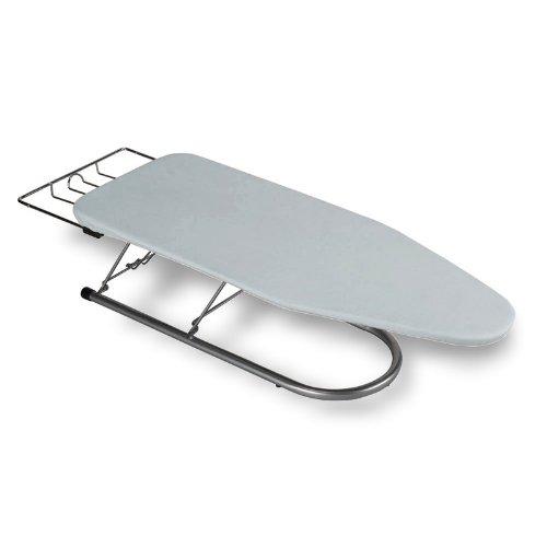 Tabletop Ironing Board Steel Mesh w/ Premium Cover & Pad - Silver Metallic ClarUSA