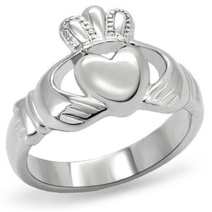Women's Stainless Steel Claddagh Ring,Size:7 - Ladies Ring Rings Claddagh