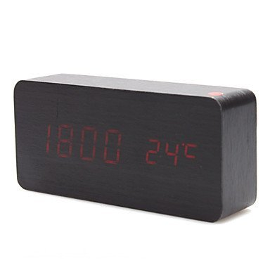 kabb-red-led-black-wood-grain-cuboid-digital-clock-alarm-thermometer-temperature-function-clap-on-so