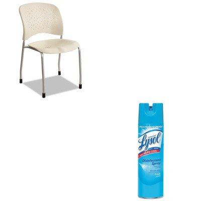 KITRAC04675EASAF6805LT - Value Kit - Safco Rve Series Guest Chair W/ Straight Legs (SAF6805LT) and Professional LYSOL Brand Disinfectant Spray (RAC04675EA)