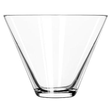 Libbey 224 Stemless 13.5 oz Martini Glass , SET of 6 w/ FDL Party Picks