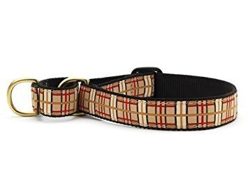 """Plaid Martingale Dog Collar - Large (13.5 - 22.5"""") 1 In Width"""