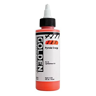 4oz. High Flow Acrylic Paint Color: Fluorescent Orange
