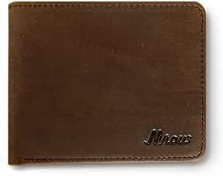 Men's Bifold Wallet Leather Vintage Slim Wallet with RFID Blocking - Nvious Living