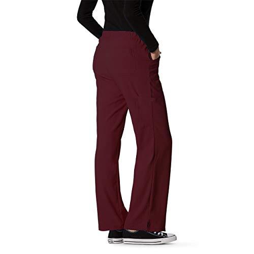 (Senscrubs Mechanical Natural Stretch Women's 6 Pockets Pants with 1 Hidden | Medical Uniform Pants | The Pants Madison 2.0 (Burgundy, S))