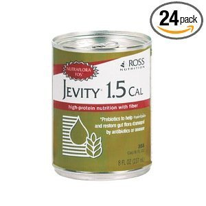 Jevity 1.5 Cal High Protein Nutrition Drink with Fiber 8oz Cans 24/Case by Abbott by Abbott