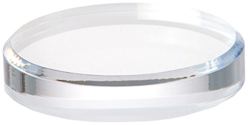 Plymor Brand Clear Acrylic Beveled Round Display Base, 1