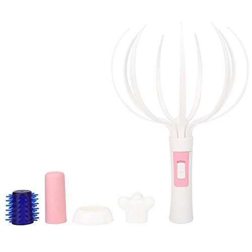 Octopus Stress Vibration Massage Head Neck Spine Electric Massager, Soft Finger Gripper Scalp Body Spa Relax Tool