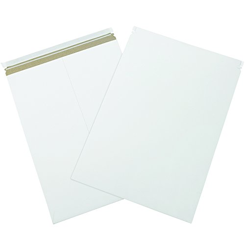 BOX USA BRM11PS  Self-Seal Flat Mailers, 18'' x 24'', White (Pack of 50) by BOX USA