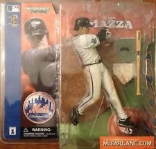 McFarlane Toys MLB Sports Picks Series 1 Action Figure Mike Piazza (New York Mets) White Jersey Uniform Chase Alternate Variant