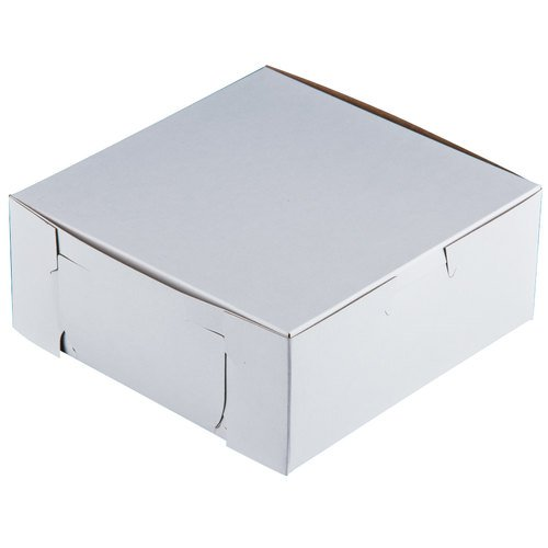 6'' x 6'' x 2 1/2'' White Pie / Bakery Box - 250 / Bundle by Southern Champion Tray