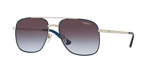 (Vogue Womens Sunglasses Blue/Purple Metal - Non-Polarized - 55mm)