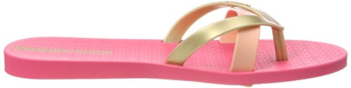 Kirei Mehrfarbig para Pink Ipanema Fem Mujer Chanclas Gold vXdwtUgq
