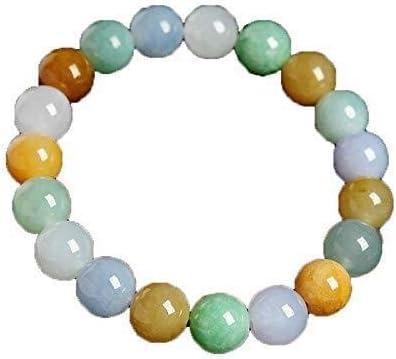 Collar de moda para mujer Tres colores jade pulsera pulsera de cuentas de un producto natural de 10 mm de tres colores jade pulsera de cuentas de tipo de cera de hielo masculino y femenino de los gran