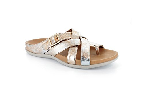 Strive Footwear Damen Sandalen Silberfarben metallisch