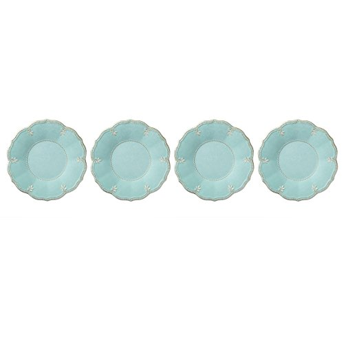 Lenox French Perle Melamine Aqua Dinner Plates, (Set of 4)