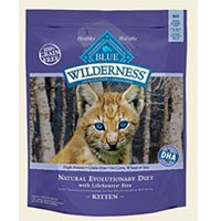 Blue Buffalo Wilderness Chicken Recipe for Kittens Dry Cat Food, My Pet Supplies
