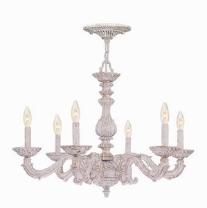 Crystorama 5126-AW Traditional Six Light Chandeliers from Sutton collection in ()