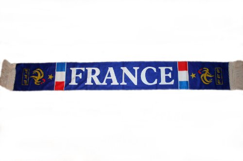 France FFF Soccer World Cup Flag Crushed Fleece Scarf Scarves .. Great Quality .. (Football Fleece Scarf)