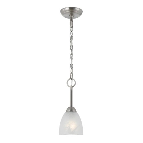 (Triarch 33299 Value Mini Pendant, Satin Nickel)
