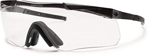 Smith Optics Elite Aegis Echo II Asian Fit Eyeshields Sunglass with Black Frame and Clear/Gray ()
