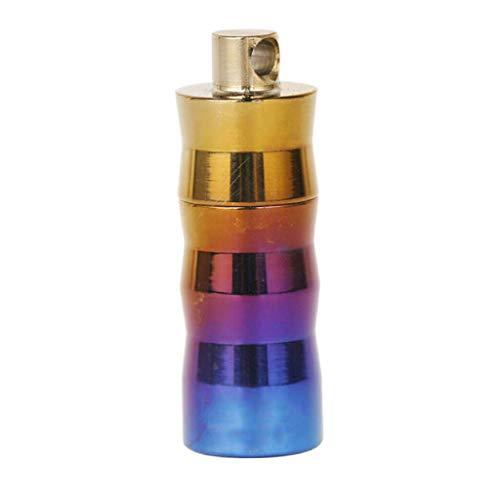 Bottle Titanium Storage Holder Case for Sealed Keychain Perfume Case ()