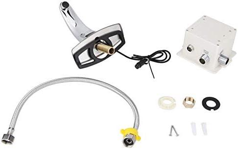 Aufee Wasserhahn, G1/2in Automatischer Sensorhahn Einzelner Wasserhahn mit Wassereinlass und Steuerkasten für den Heimgebrauch