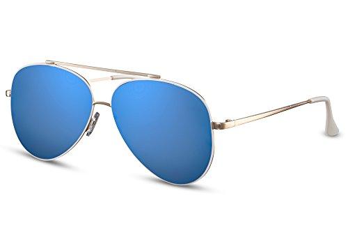 Diseñador Piloto Metálicas Amarillo Gafas Hombres 032 de Mujeres Aviador 400 Ca Gafas Cheapass UV Sol Espejadas YgUUq