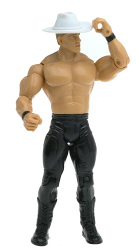 2004 - Jakks Pacific - WWE Ring Rage / Ruthless Aggression - Series 10.5 - John ''Bradshaw'' Layfield Action Figure - Includes Cowboy Hat - Rare - Limited Edition - Collectible by Jakks Pacific