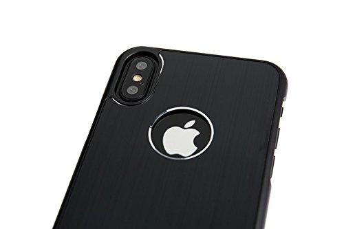 Spada 4052335032542en aluminium brossé pour Apple iPhone x Noir