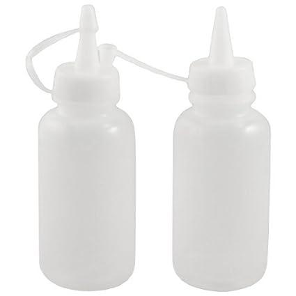 eDealMax 2 PC 120ml Botella transparente de plástico Blanco de Coser aceite de máquina w Cap