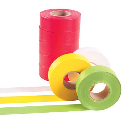 Keson FTGO 1-3/16'' Ribbon Marker Flagging Tape, 150', Orange by Keson