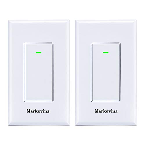 Smart WiFi Light Switch APP Control from Anywhere Compatible with Alexa Google Home, Timing Schedule, Overload Protection No Hub Required -15A Nuetral Wired Required (2 Pack New)