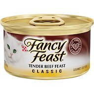 (Fancy Feast Classic Tender Beef Feast Canned Cat Food, 3 oz, 12 Cans )