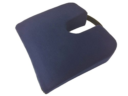 Geneva Healthcare Memory Foam Travel Sloping Coccyx Cushion with Handle - 15
