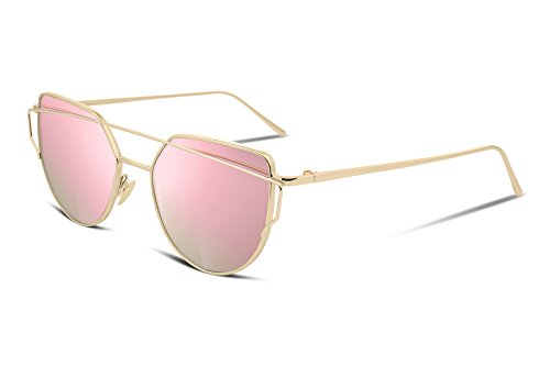 FEISEDY Fashion Mirrored Lenses Sunglasses product image
